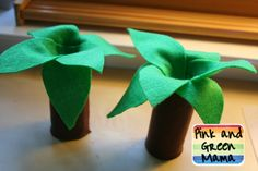 Pink and Green Mama: * How to Make a Tree Out of a Toilet Paper Tube