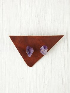 Free People Amethyst Studs, $78.00. Need these, I'm a February girl!