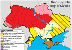 Ethnolinguistic map of Ukraine
