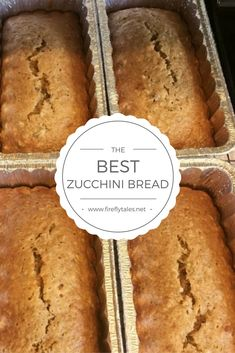 The best, and easiest, zucchini bread recipe you'll ever need. Great for meal trains and leave-behind dinners, especially in the fall. Best Zucchini Bread, Zucchini Bread Recipes, Pecan Recipes, Cooking Recipes, Fudge Recipes, Easy Desserts, Dessert Recipes, Appetizer Recipes, Cinnamon Sugar Pecans