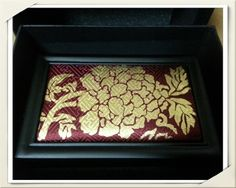 Business card case by KUM BAK YEON  (Pure Gold Leaf Imprinting on Silk)since 1856