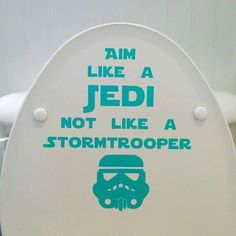 Does your Jedi-in-training miss the Sarlaac pit?? This Star Wars toilet decal is just the thing for your Padawan learners!! This Star Wars Aim Like A