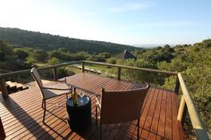 Balcony view from Bukela Game Lodge - Luxury Safari Tents Restored Farmhouse, Game Lodge, Game Reserve, Outdoor Furniture, Outdoor Decor, Tents, Lodges, Balcony, South Africa