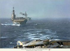 Victorious(deck), Indomitable and Eagle of the RN in the Mediterranean