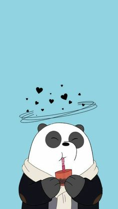 Image uploaded by Find images and videos about wallpaper, panda and we bare bears on We Heart It - the app to get lost in what you love. Panda Wallpaper Iphone, Cute Panda Wallpaper, Bear Wallpaper, Cute Disney Wallpaper, Kawaii Wallpaper, Cute Wallpaper Backgrounds, Blue Wallpaper Phone, Iphone Backgrounds, Lock Screen Wallpaper