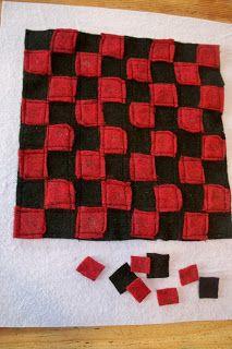 Adventures of a DIY Mom - Felt Checker Board