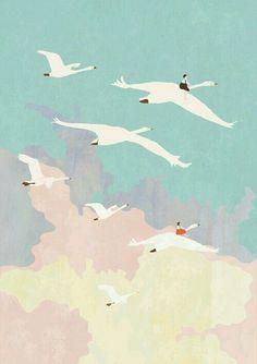 Birds pastel