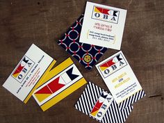 Invite mixing nautical stripes and Maryland colors