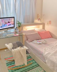 Room Design Bedroom, Room Ideas Bedroom, Home Room Design, Small Room Bedroom, Study Room Decor, Pastel Room, Minimalist Room, Cozy Room, Aesthetic Bedroom