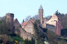 Burg Hirschhorn im Odenwald / Hessen
