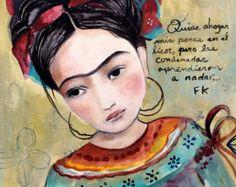 Frida Inspired Art Print by LuckySkye on Etsy