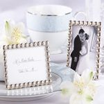 "Wedding Favors & Party Supplies - Favors and Flowers :: Wedding Favor Themes :: Engagement Party Favors :: ""Silver Pearls"" Mini Photo Frame"