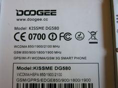 Typenschild des WCDMA 3G #DOOGEE #KISSME #DG580