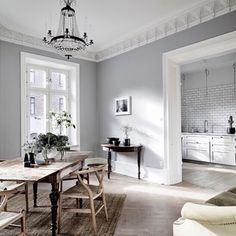 Get To Know The Best Scandinavian Living Room Design Ideas Living Room Scandinavian, Scandinavian Interior, Scandinavian Style, Home Interior, Minimalist Dining Room, Minimalist Kitchen, Grey Walls, Interior Design Inspiration, Inspiration Boards