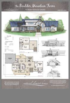 Modern Mountain Home, Mountain House Plans, Country House Plans, New House Plans, Modern House Plans, Mountain Homes, Tiny House Cabin, Cabin Homes, Log Homes