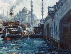 Ibrahim SAFI (Nakhichevan,1898 - Istanbul,1983) Vue d'Istanb