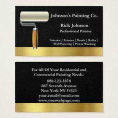 White painters painting services home improvement business card painter black gold paint roller business card colourmoves