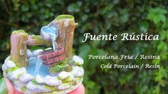 Fuente Rústica en Porcelana Fria - Resina / Cold Porcelain - Resin