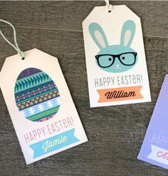Save yourself a trip to the store with these cute Easter gift tags. Print, cut, hole punch—done! - Everyday Dishes & DIY