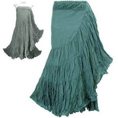 Whether they're in or not, I live in boho skirts in the summer. And I adore these.