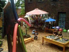 Outdoor preschool classroom.
