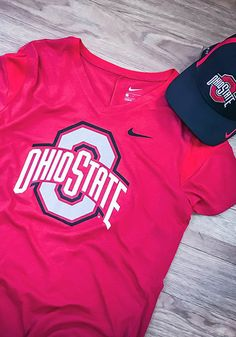 Let your Buckeyes support show with this Ohio State Buckeyes Womens Red Fan Short Sleeve T-Shirt! Rally House has a great selection of new and exclusive Ohio State Buckeyes t-shirts, hats, gifts and apparel, in-store and online. Nike Ohio State, Ohio State University, Ohio State Buckeyes, Ashley Rivera, Fit Team, Print Logo, Short Sleeve Tee, Lady In Red, Fan