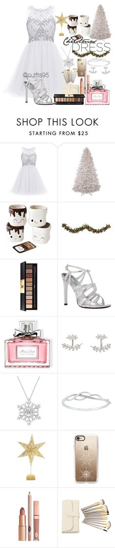 """""""white Christmas"""" by adrianaalva97 ❤ liked on Polyvore featuring Improvements, Yves Saint Laurent, Prada, Christian Dior, SonyaRenée, Biltmore, Casetify and Dolce Vita"""