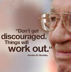 Don't get discouraged...