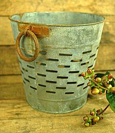 DIY pendants for peninsula. Round Olive Bucket Small Gray. $15 plus light kit, etc.