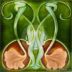 Art Nouveau Tile by Celwell, via Dreamstime