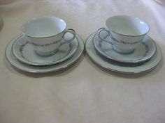 Noritake Crestmont trios x 2 both in very good condition. $25 ea or $45 the pair +pp to Australia only.