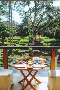 Breakfast at Kamandalu Resort Ubud, Bali