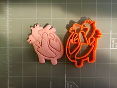 If you have a custom shape or logos in mind please contact us for your unique custom orders. This listing is for Heart Anatomy Cookie Cutter. Great size to make cookies for any fun occasions. The dept                                                                                                                                                      More