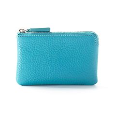Blue Card Pouch | Full Grain Teal Leather