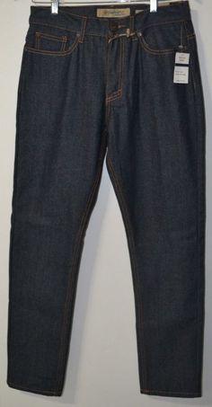 NWT Vintage Genes Men's tapered 5 Pockets Original Denim Jeans Pants size 30x32  #VintageGenes #ClassicStraightLeg