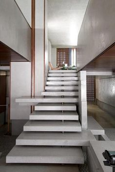 utilize a staircase for storage options, extra landings for decor, etc.