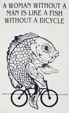 funny fish on a bicycle meme #bicyclehumor #bicyclememes