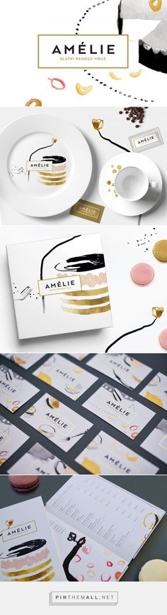 Amélie identity on Behance Fivestar Branding – Design and Branding Agency & Inspiration Gallery Corporate Design, Brand Identity Design, Graphic Design Branding, Packaging Design, Corporate Identity, Branding Agency, Business Branding, Business Card Design, Identity Branding