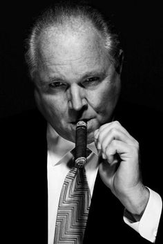Rush Limbaugh smoking a cigarette (or weed)