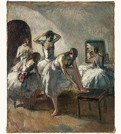 Dancers at the Opera by Jean-Louis Marcel Cosson Georges Braque, Ballerine Degas, Marcel, Art Français, Jean Cocteau, Balerina, Edgar Degas, French Art, Jeans
