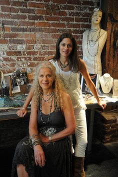 Avril & Cindy Joffe -- Avindy jewelry makers | Photo by Dana Waldon for the Nov/Dec/Jan '12 issue of Where Women Create