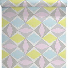 papier peint vinyle sur intiss losange multicouleur larg 053 m leroy merlin - Papier Peint Chambre Fille Leroy Merlin