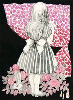 Alice and the white rabbit♥