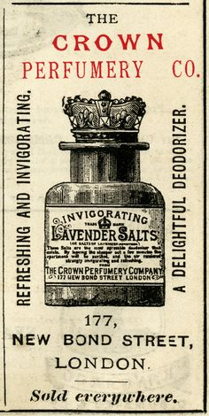 Crown Perfumery Co. Lavender Salts ~ Free Vintage Advertising Clip Art