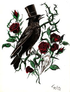 Crow and Rose Thorn
