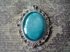 """Blue Map Pendant 2 1/2"""" by 2"""" by ForeverCreateDesigns on Etsy"""