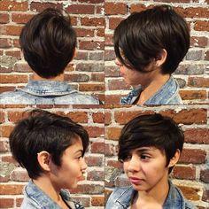 Zobaczcie najciekawsze krótkie fryzury z grzywką użytkowniczek Instagrama.