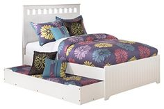 Ashley Furniture Signature Design - Lulu Kids Bedset with Headboard, Footboard & Storage - Childrens Full Size Panel Bed - White