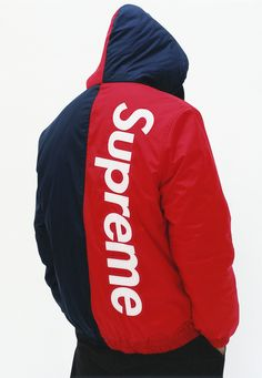 Supreme 2-tone hooded sideline jacket
