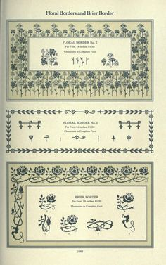 Floral Elements for Border and Pattern. Page 1083.